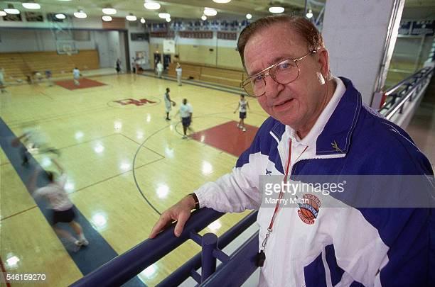 Portrait of DeMatha HS coach Morgan Wootten Hyattsville MD CREDIT Manny Millan