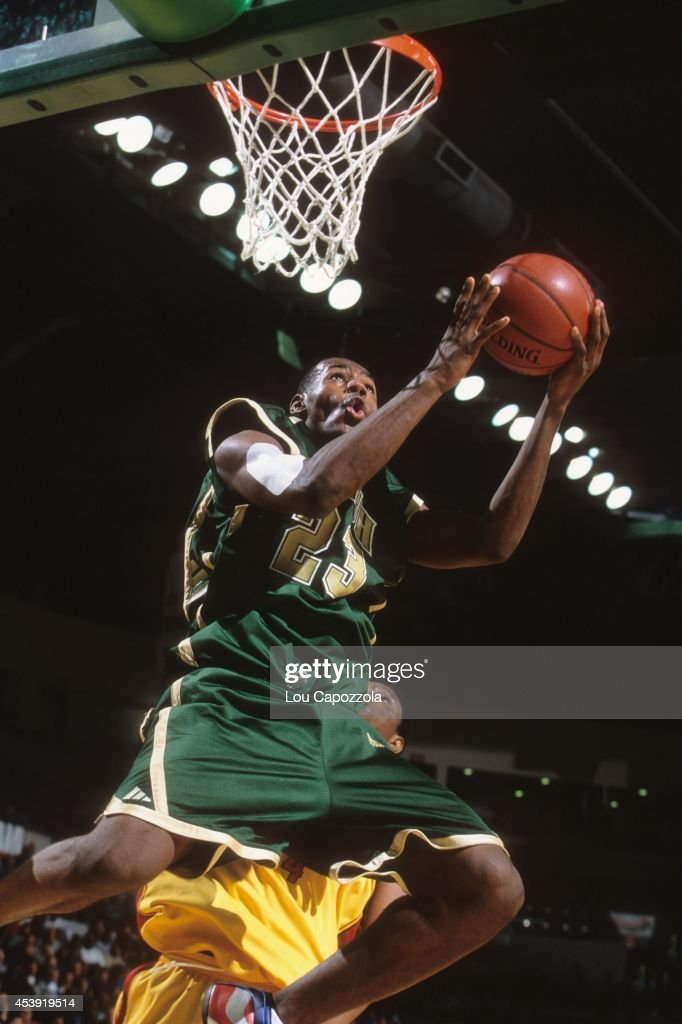 St. Vincent-St. Mary HS LeBron James (23) in action, layup vs Oak Hill Academy at Sovereign Bank Arena. Lou Capozzola F8 )