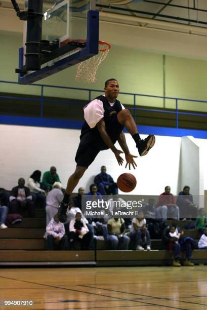 Simeon Career Academy Derrick Rose in action dunk during game at Ben Wilson Gymnasium Chicago IL CREDIT Michael J LeBrecht II