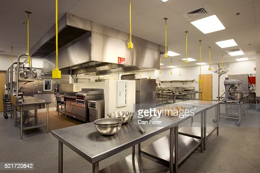 High School Cafeteria Kitchen Stock Photo Getty Images