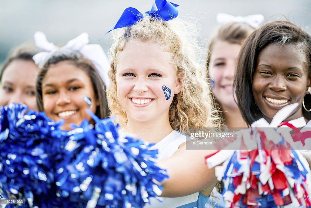 High school cheerleaders : Stock Photo