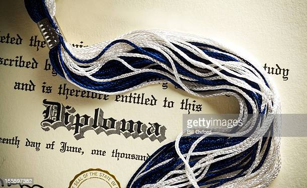 high school diploma - diploma stock photos and pictures