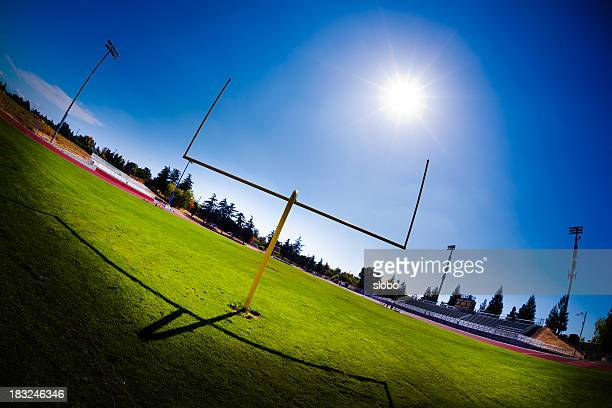 high school football field - high school football stock pictures, royalty-free photos & images