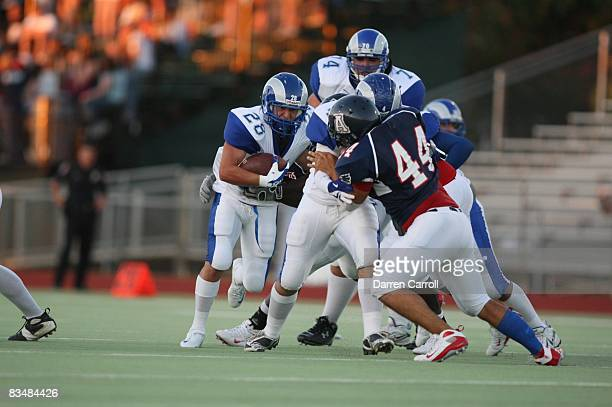 Prepa Tec Borregos Salvajes Alvarez Sarabia Eduardo in action rushing vs Allen HS Eagles Allen TX 9/5/2008 CREDIT Darren Carroll