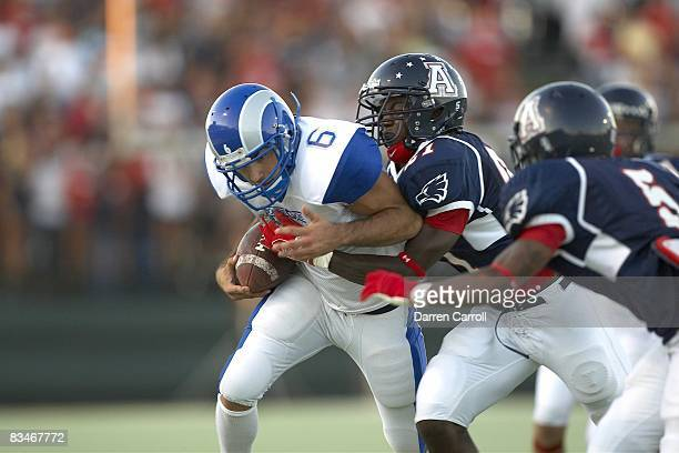 Prepa Tec Borregos Salvajes Diego Villarreal Ortiz in action rushing vs Allen HS Eagles Allen TX 9/5/2008 CREDIT Darren Carroll