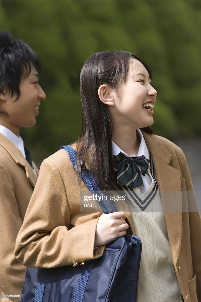 High School Girl Smiling, Selective Focus : Photo