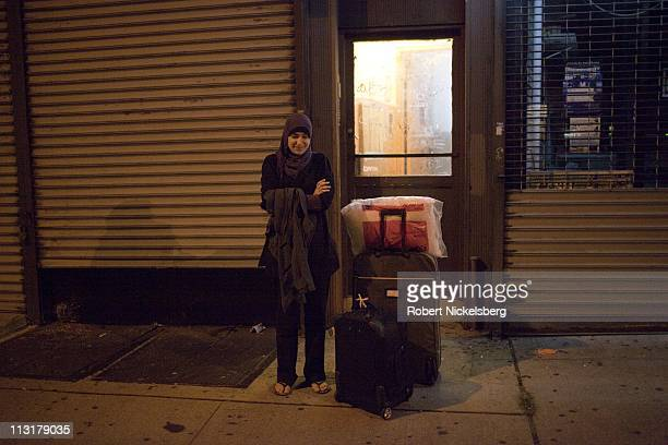 High school graduate Asmaa Rimawi leaves her home August 26 2010 in Bay Ridge New York for the airport to catch a flight to Boston Massachusetts...