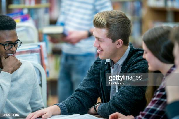 high school library - fatcamera stock pictures, royalty-free photos & images