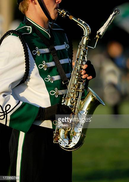 High school marching band.