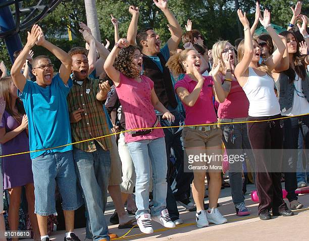 """High School Musical"""" hopefuls perform during the Disney's High School Musical Get in the Picture Session Casting at Disney's Wide World of Sports..."""
