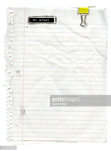 high school paper - lined paper stock pictures, royalty-free photos & images