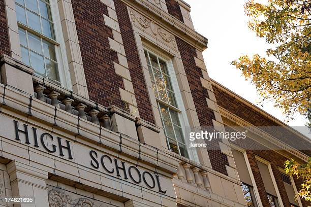 high school - high school building stock pictures, royalty-free photos & images