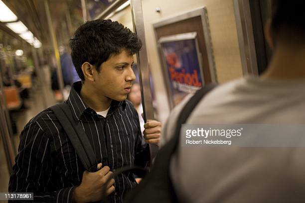 High school senior Mohamed Amin 18 years travels 90 minutes by subway to school June 7 2010 in New York New York Mohamed will graduate from the...