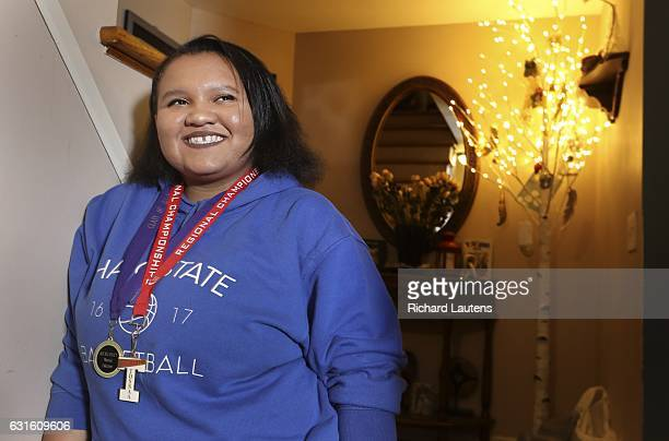 High school student Alexis Riley 17 has won one of Horatio Alger $5000 scholarships awarded to 85 young people She sings in a band plays basketball...
