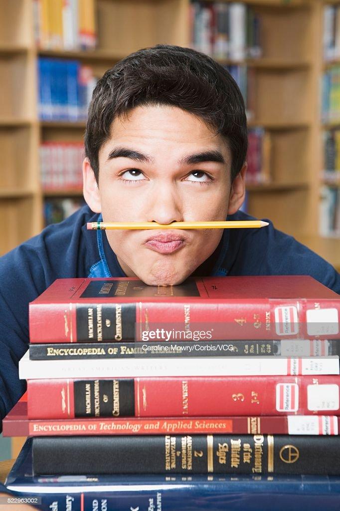 High School Student Goofing Off : Stock Photo