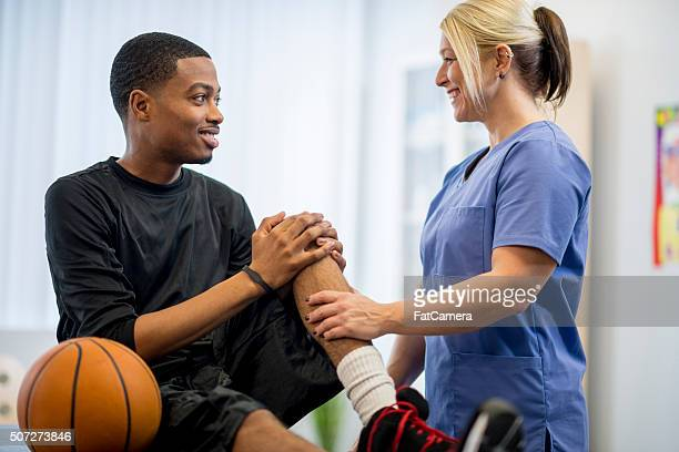High School Student in Physical Therapy
