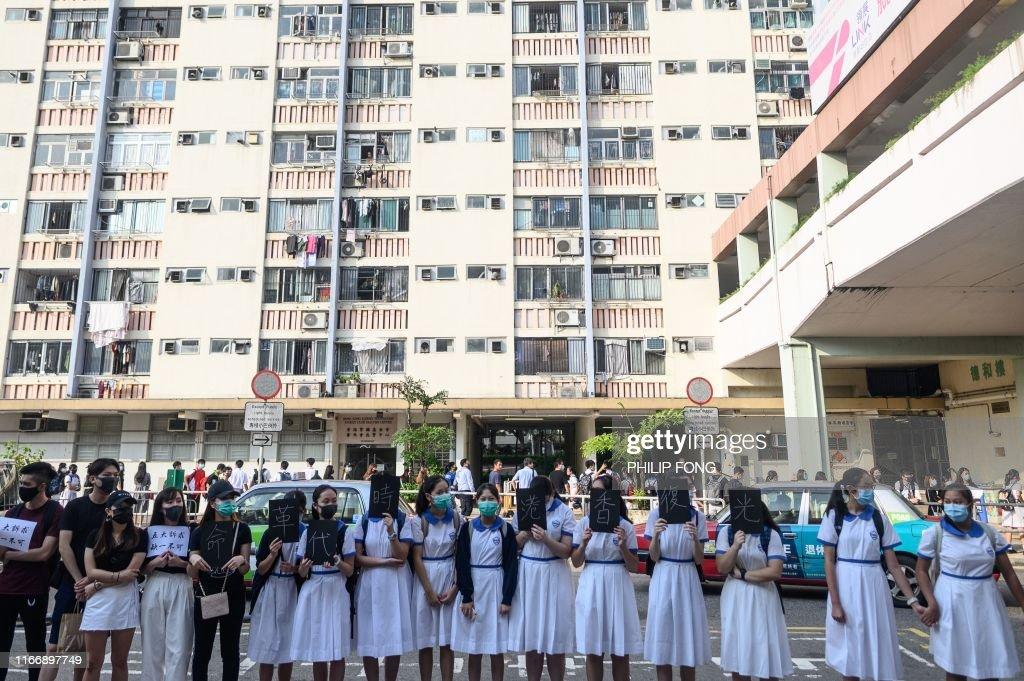 HONG-KONG-CHINA-POLITICS-UNREST : News Photo