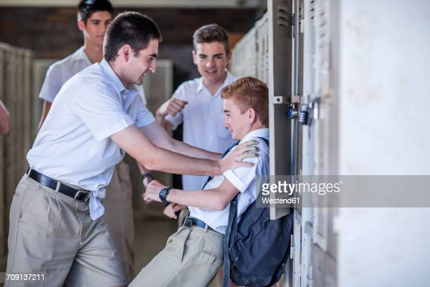 High school students bullying classmate