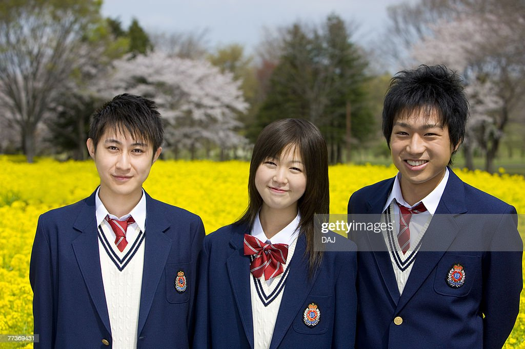 High School Students In Rape Seed Blossoms : Photo