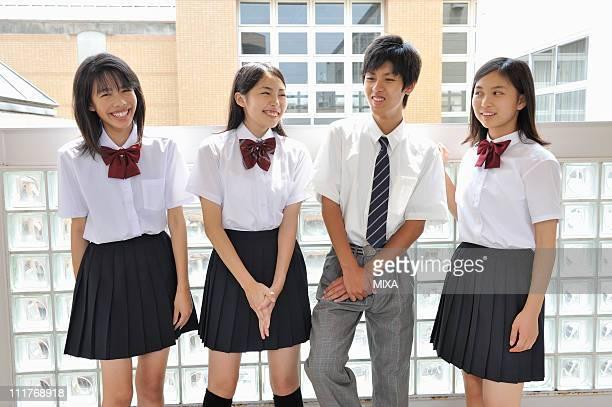 High School Students Talking at Hallway