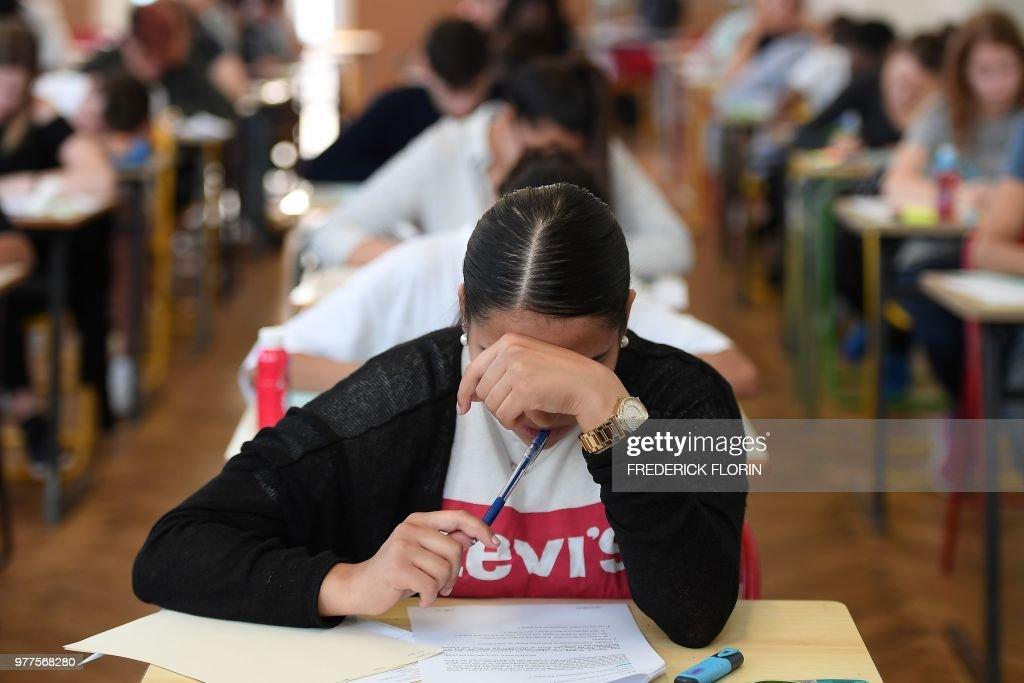 FRANCE-EDUCATION-EXAMINATION-BACCALAUREAT : ニュース写真