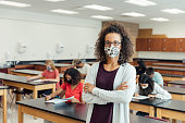 High School Teacher at School during COVID-19