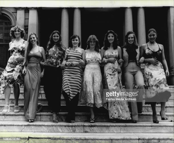 200 high schoolgirls from Metropolitan and central coast schoolstoday showed off their finest self made clothes at the 1978 EducationWeek fashion...