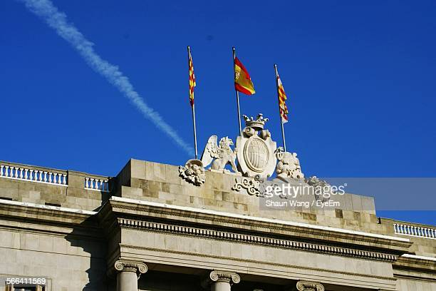 High Section Of Barcelona City Council Against Clear Blue Sky