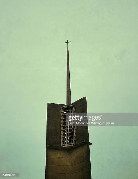 high section of church against clear sky - mcconnell stock pictures, royalty-free photos & images