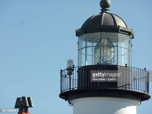 High Section Of Lighthouse Against Clear Sky