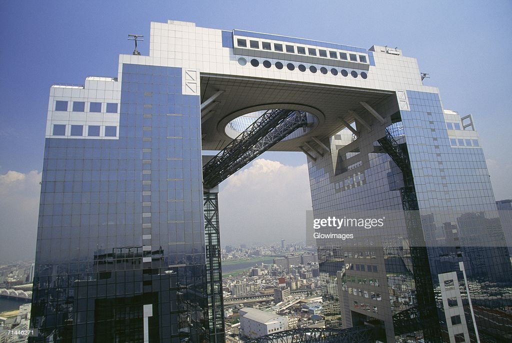 High section view of a building, Umeda Sky Building, Osaka, Japan : Stock Photo