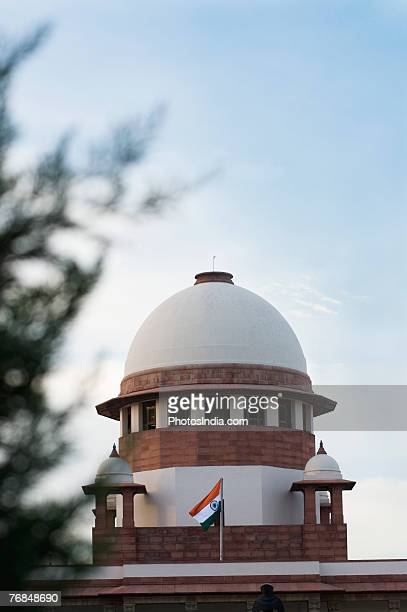 High section view of a government building, Supreme Court, New Delhi, India