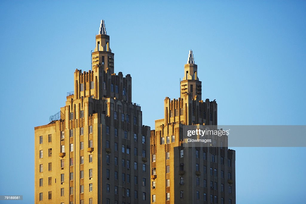 High section view of buildings, San Remo, New York City, New York State, USA : Stock Photo