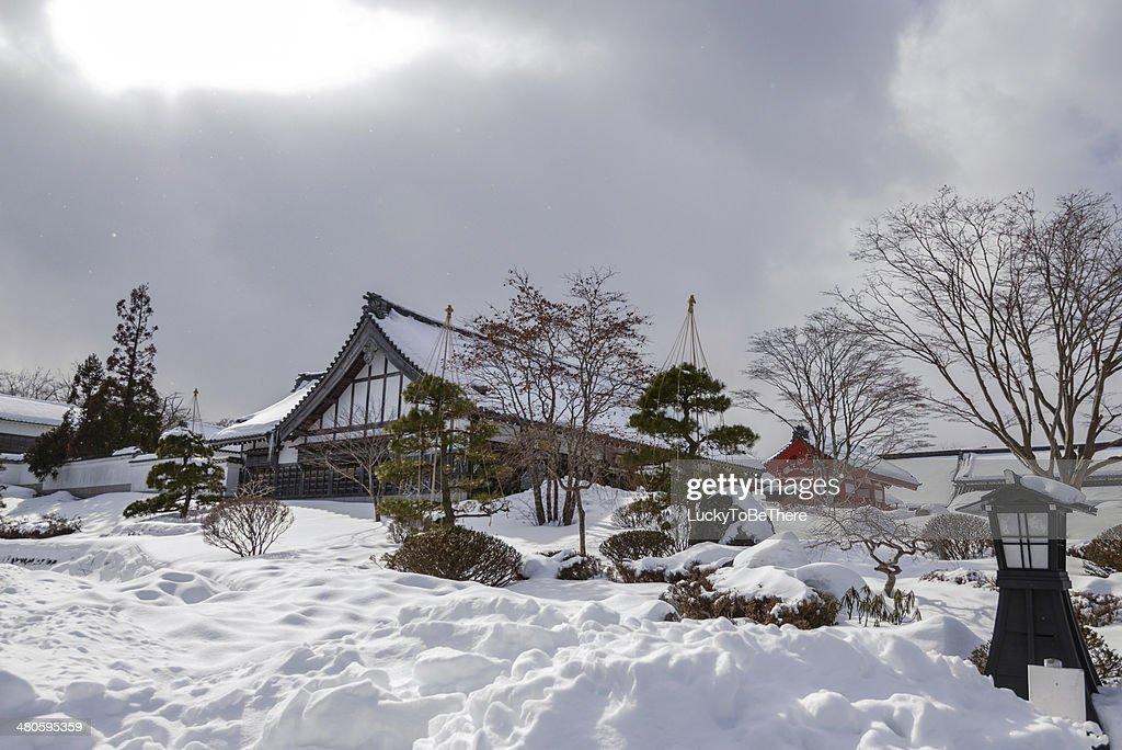 High Snow in Hokkaido Japan : Stock Photo