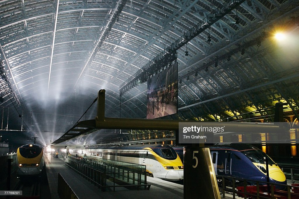 High Speed 1 and St Pancras International, the new Channel Tunnel rail terminal for Eurostar is officially opened by the Queen, on November 6, 2007 in London, England.