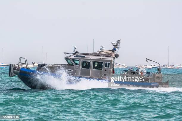 Haute vitesse bateau de police de Chicago