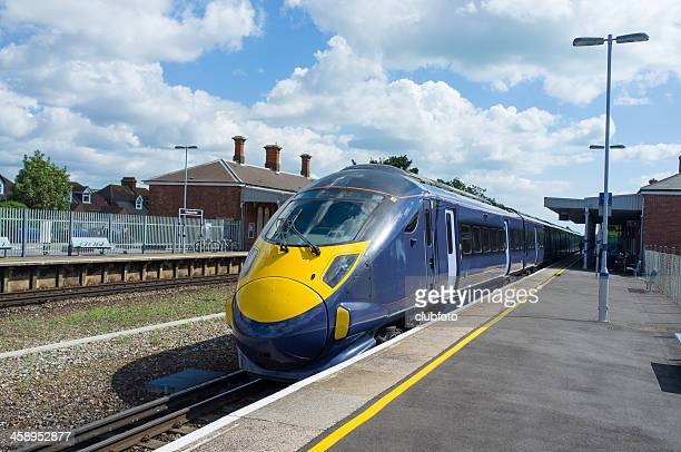 high speed electric train - folkestone stock pictures, royalty-free photos & images