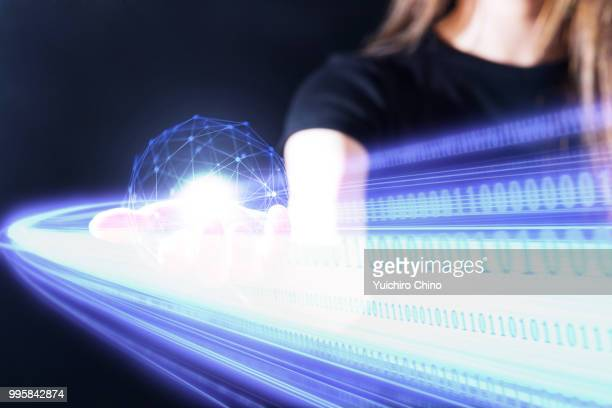 high speed network - data stream stock photos and pictures