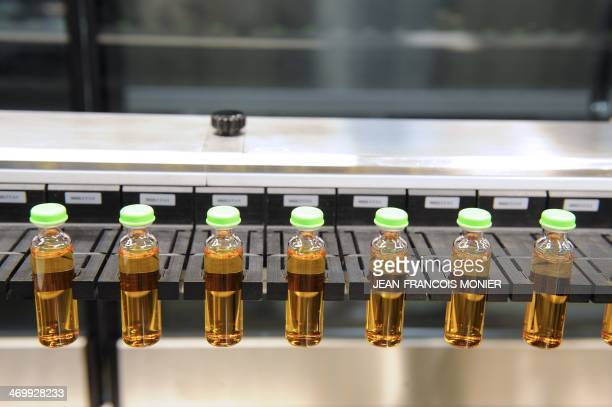 A high speed production line of insulin is pictured at the factory of Novo Nordisk a global healthcare company in Chartres on February 17 2014 AFP...