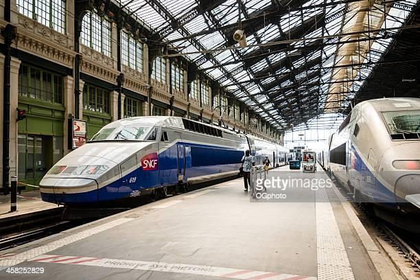 Accès Internet haut débit, les trains de stationnement à la Gare TGV de Lyon Station