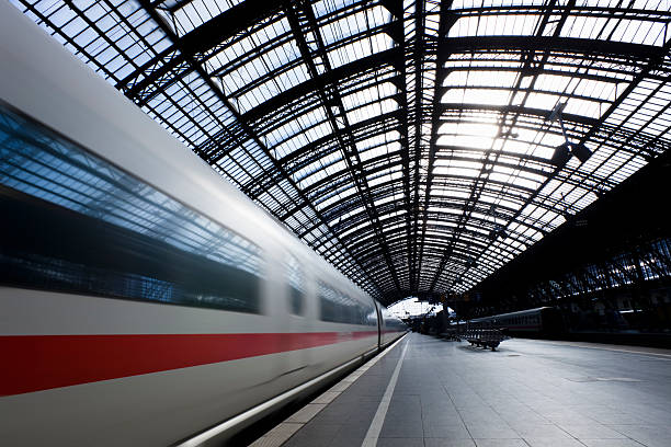 High speed train in Cologne Central Station