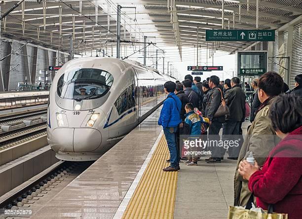 High speed train in Suzhou, China
