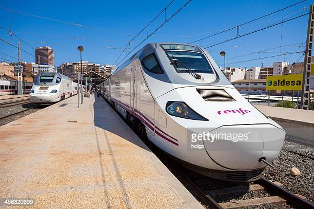 ave high speed trains, alicante - alta velocidad espanola stock pictures, royalty-free photos & images