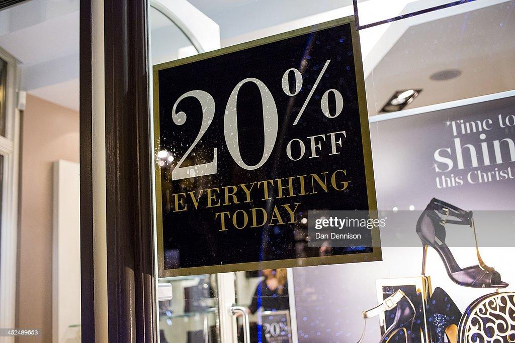 UK Stores Follow US Tradition Of Black Friday : News Photo