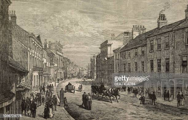 High Street Doncaster United Kingdom engraving from The Illustrated London News No 2722 June 20 1891