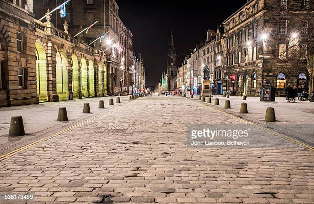 High Street (Royal Mile), Edinburgh, night