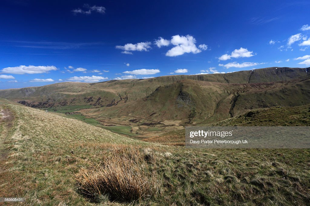 High Street fell and the Martindale valley : Stock Photo