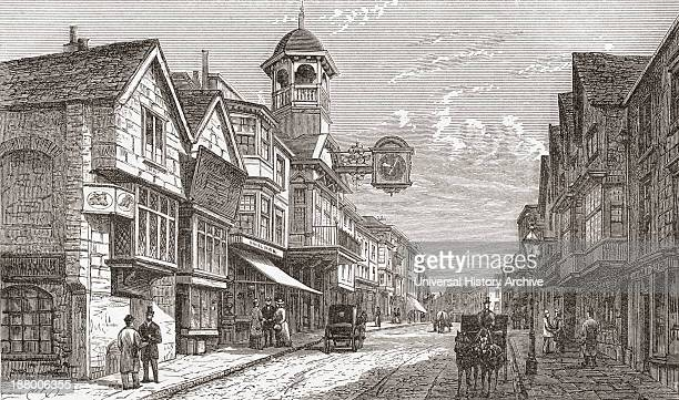 High Street Guildford Surrey England In The Late 19Th Century From Our Own Country Published 1898