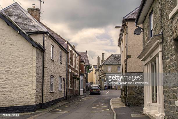 CONTENT] High Street in the pretty English village of Clun Shropshire
