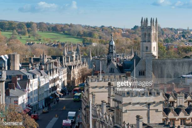 High Street Oxford aerial view UK